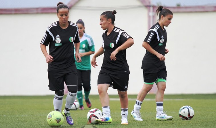 L'EN Féminine à l'entrainement à Sidi Moussa