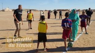 Bougherra en mission avec l'UNICEF pour les enfants réfugiés Sahraouis !