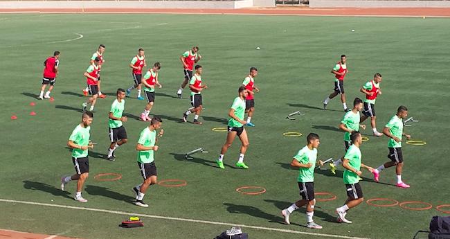Les U23 à l'entrainement au Sénégal