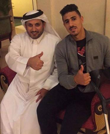 Bounedjah est au Qatar