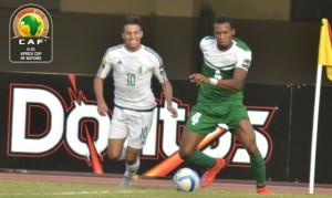 Meziane face au Nigéria lors de la CAN U23
