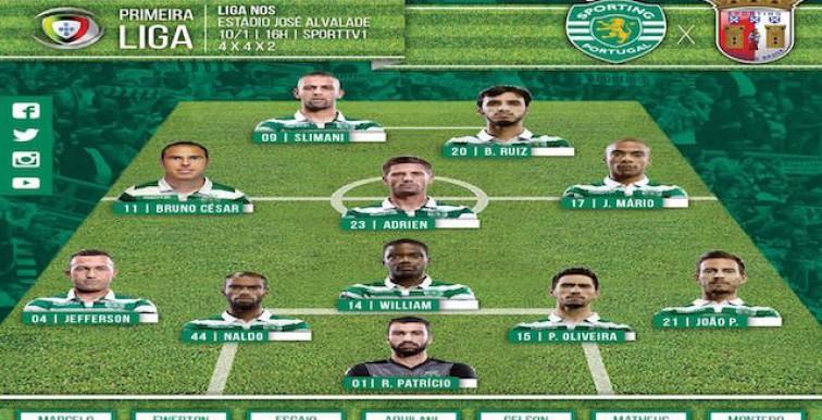 Sporting – Braga : Slimani titulaire