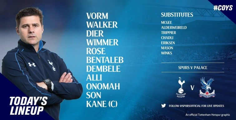 Bentaleb titulaire face à Crystal Palace !
