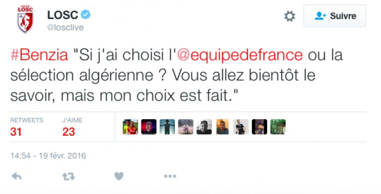 France ou Algérie ? Benzia a tranché!