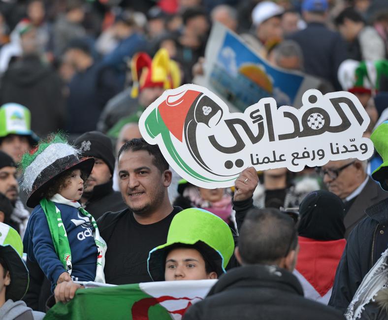 Algérie U23 - Palestine (0-1) - supporter algérien