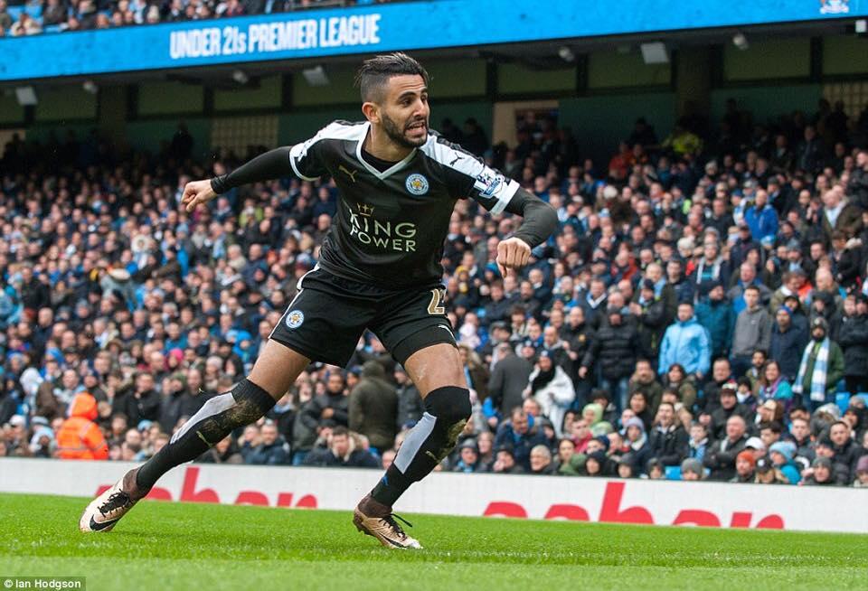 joie Mahrez face à Manchester City