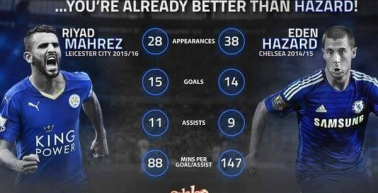 Mahrez assuré d'être élu MVP de la saison ?