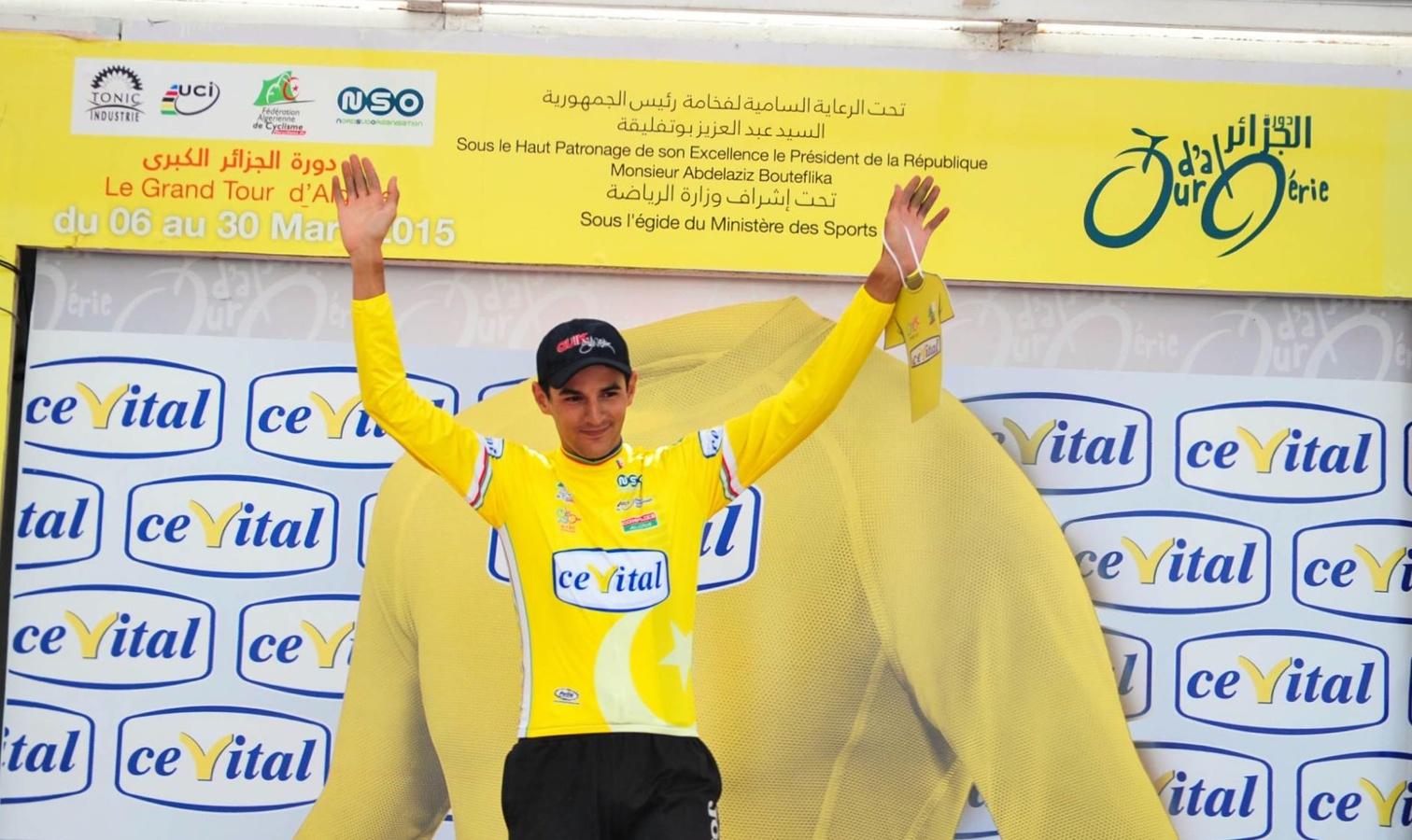 cyclisme_tourd'algerie_maillot jaune victoire