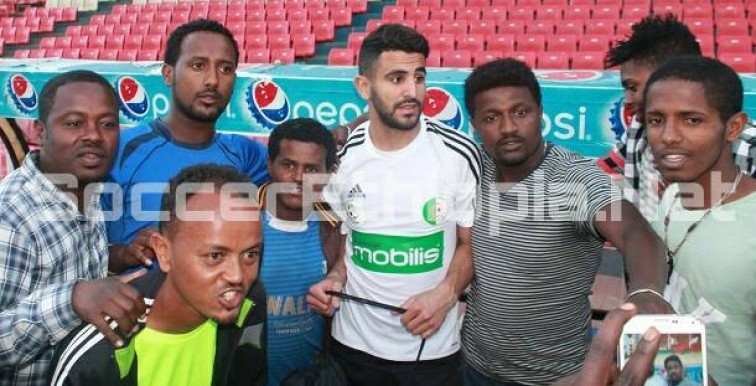 Mahrez super Star à Addis Abeba !