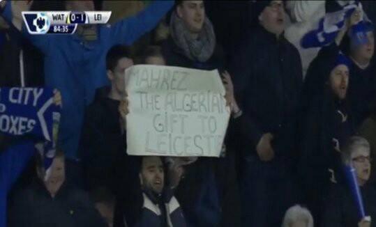 supporter algérien dans les tribunes de Leicester