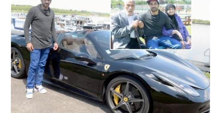 (VIDÉO) Ce joueur algérien loue sa Ferrari pour venir en aide à un couple de retraités !