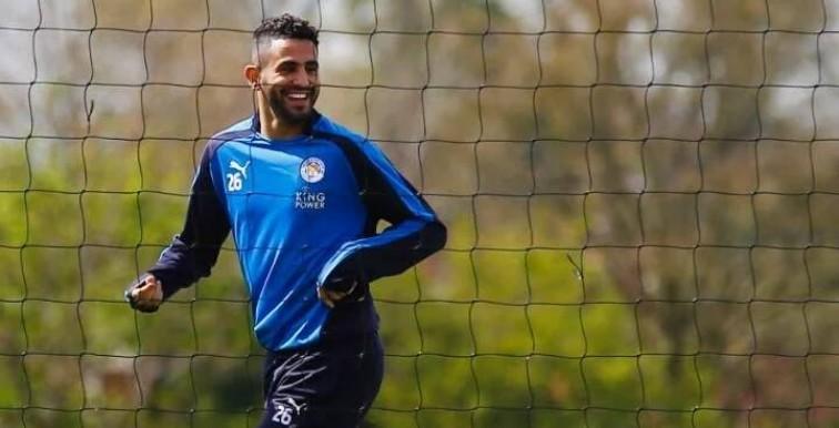 Mahrez de retour aux entrainements avec le sourire
