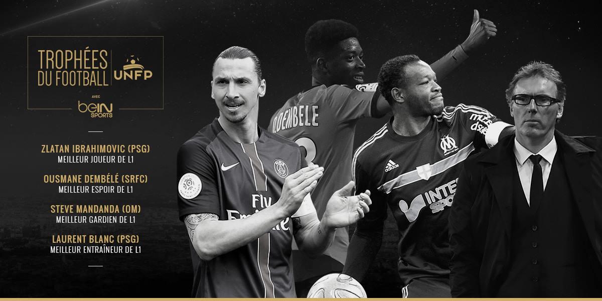 trophées Ligue 1 zlatan