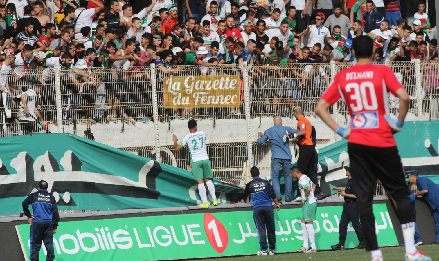 violence ligue 1 chaouchi mca ghrib