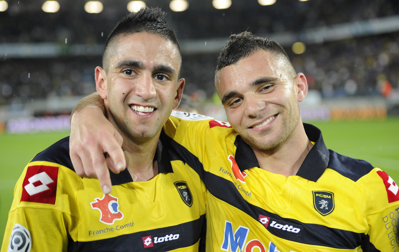 joie de BOUDEBOUZ Ryad (SOCHAUX) et MARTIN Marvin (SOCHAUX), a la fin du match