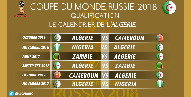 Russie 2018 : le calendrier complet du Groupe B !
