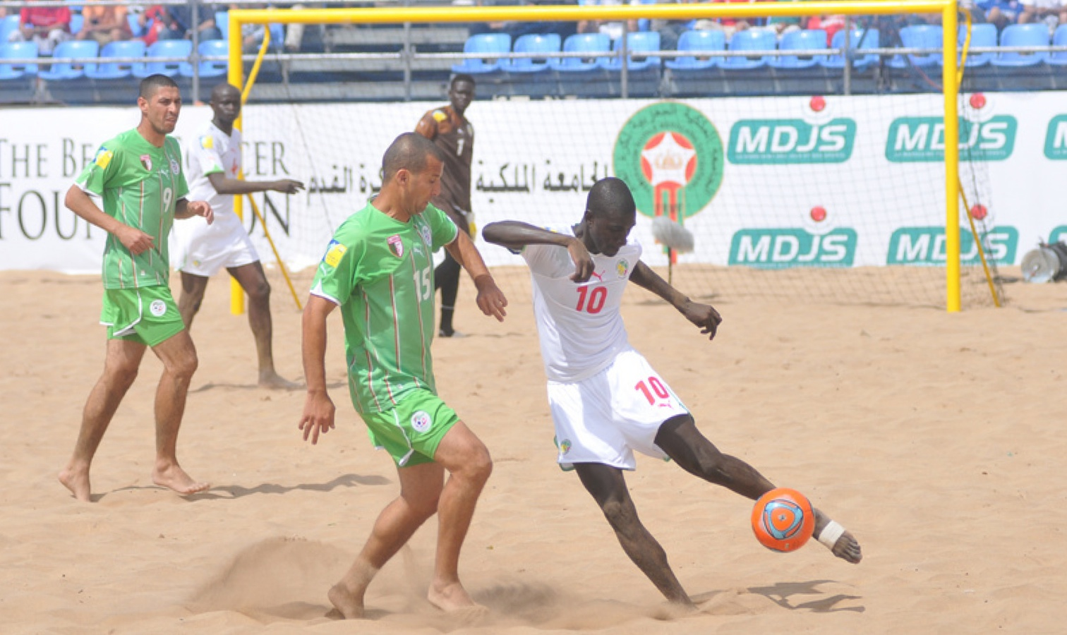 action beach soccer algerie senegal