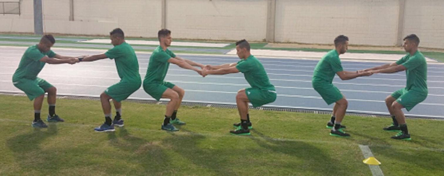 entrainement U23 Rio exercice échauffement