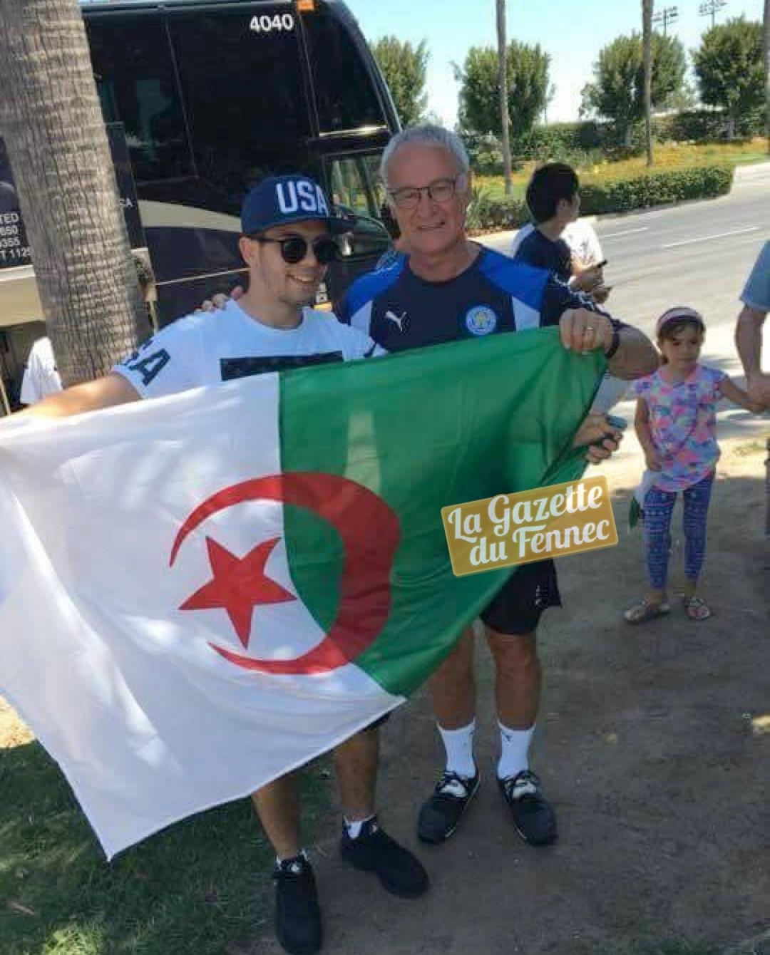 fan algérien ranieri drapeau