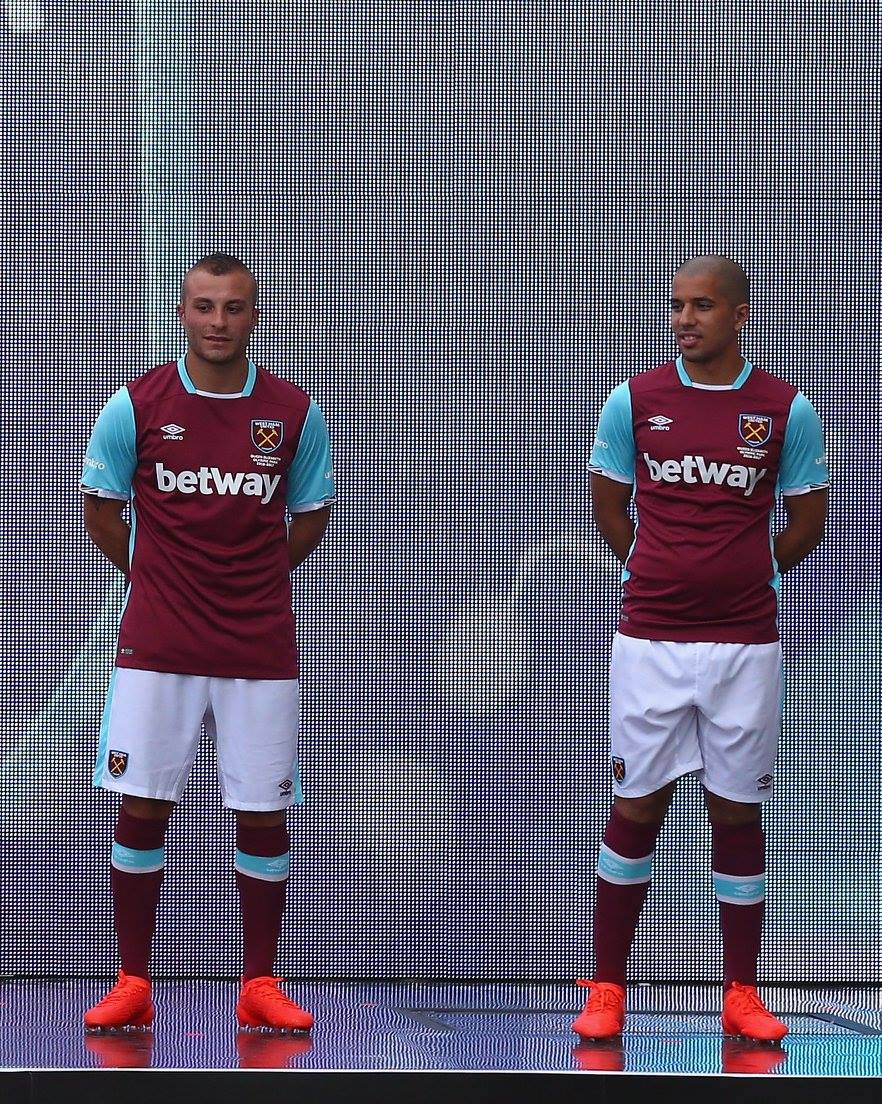 feghouli presentation west ham maillot