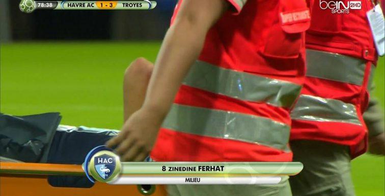 Ligue 2 : Ferhat sort sur blessure !