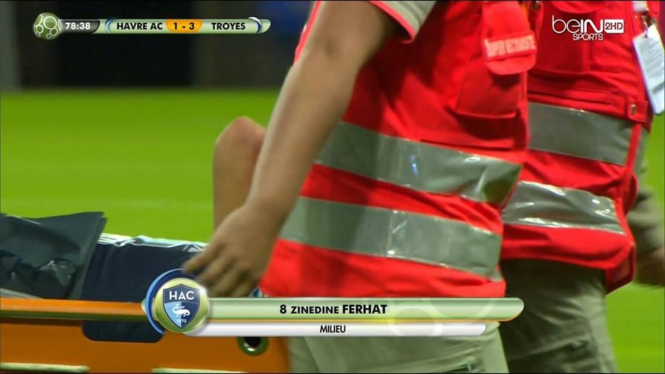 Ligue 2 Ferhat Sort Sur Blessure