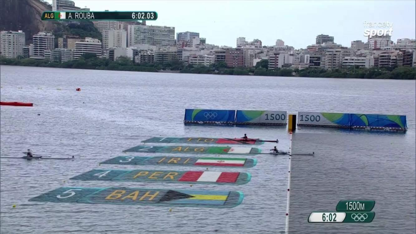 Rouba aviron finish Rio