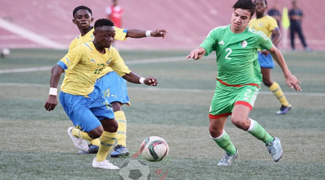 U17 algerie gabon duel défenseur
