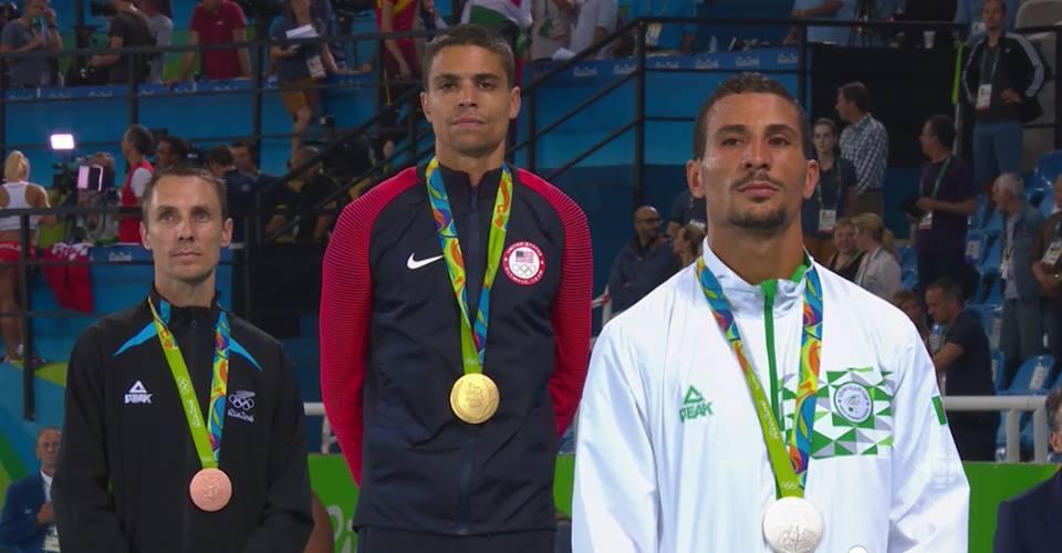 podium makhloufi argent 1500m Rio 2016