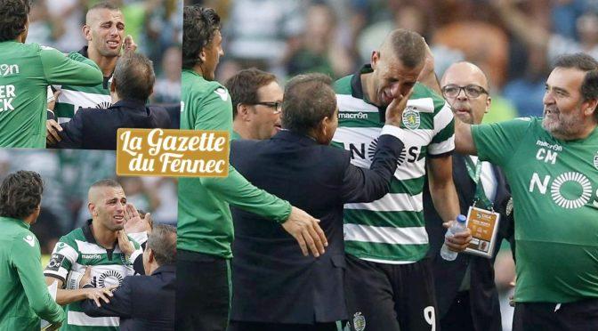 Sporting : les chaudes larmes de Slimani qui dit adieu à Lisbonne !