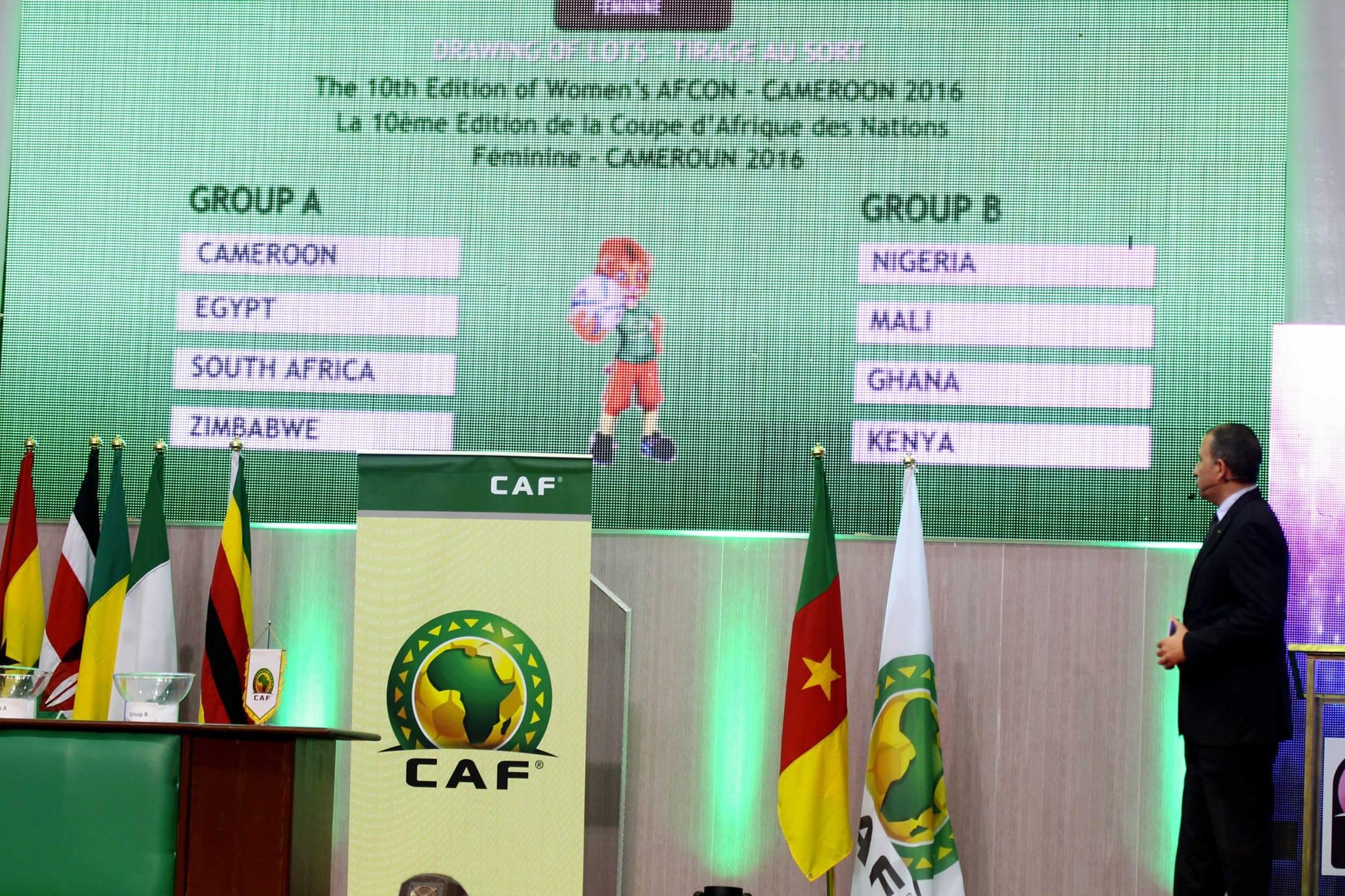 CAN 2016 cameroun féminine tirage 2