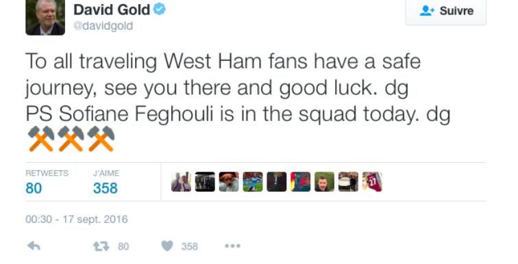 West Brom – West Ham : Feghouli dans le groupe