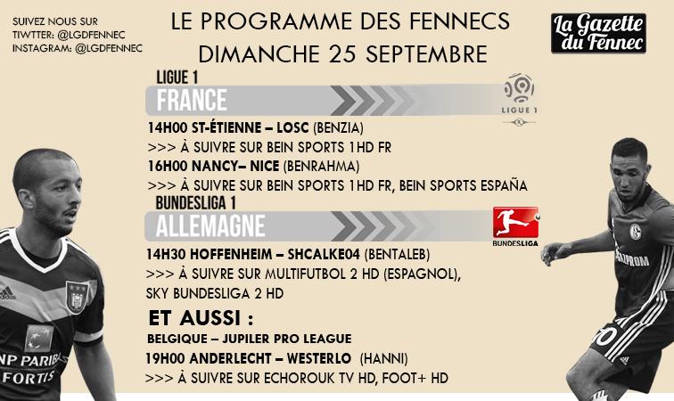 Programme TV du dimanche La gazette du fennec
