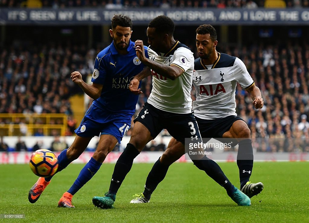 during the Premier League match between Tottenham Hotspur and Leicester City at White Hart Lane on October 29, 2016 in London, England.