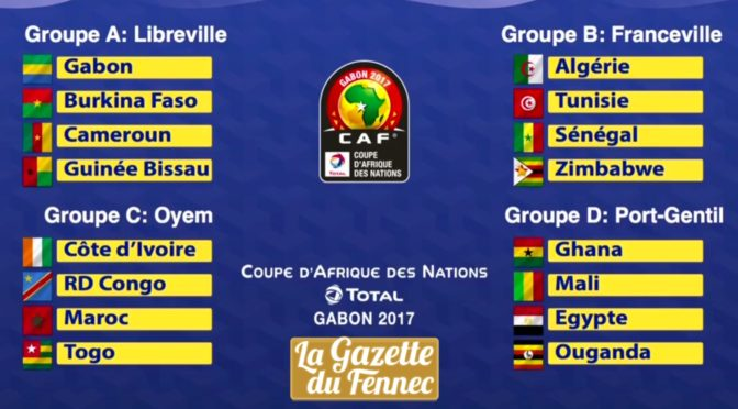 Tirage au sort : les groupes de la CAN 2017 !
