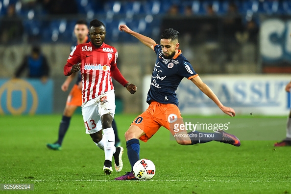 Ryad Boudebouz of Montpellier during the French Ligue 1 match between Montpellier and Nancy at Stade de la Mosson on November 26, 2016 in Montpellier, France. (Photo by Alexandre Dimou/Icon Sport)