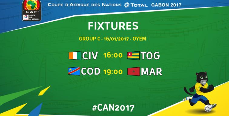 CAN 2017 : RD Congo-Maroc au programme du jour !