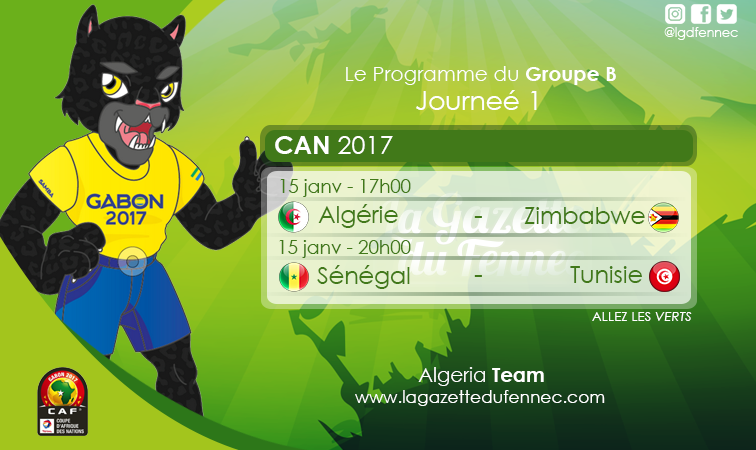 Journée 1 groupe B CAN 2017