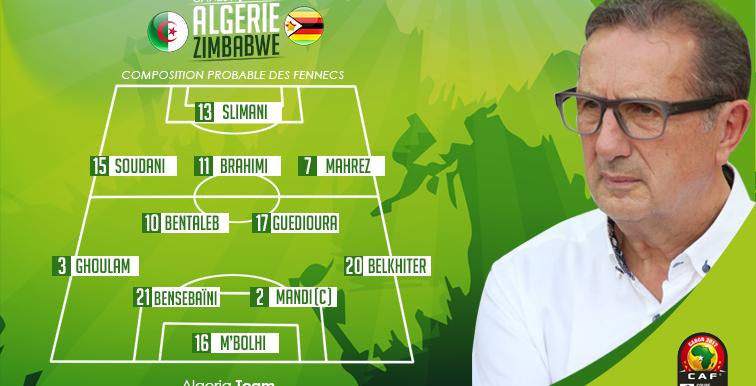 ALG-ZIM : l'Algérie évoluera en blanc