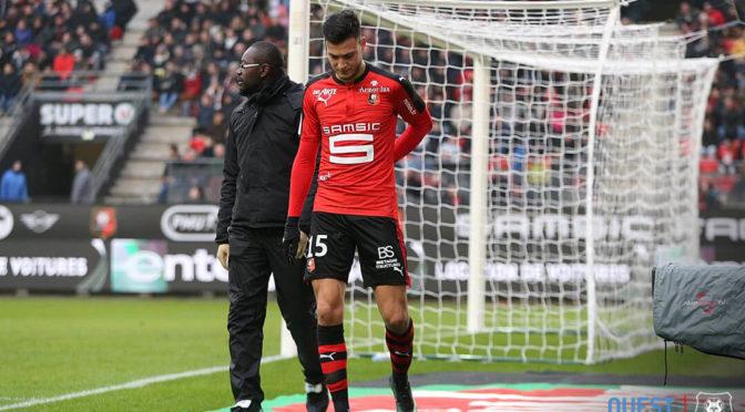 Rennes : Bensebaini touché à la hanche face à Nice