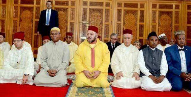 roi du maroc Mohamed VI avec Ahmad Ahmad à Madagascar