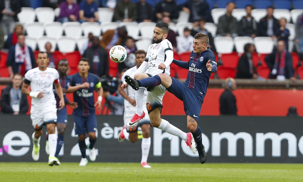 Boudebouz face a Verrati PSG