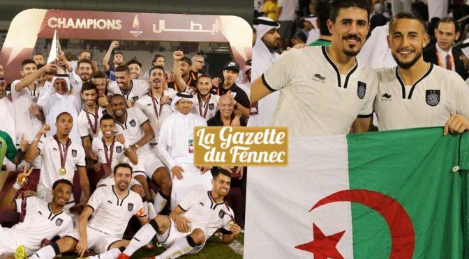 Coupe du Qatar : Bounedjah et Hamroun offrent le titre à Al Sadd !