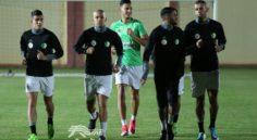 EN : dernier entrainement avant le match face à la Guinée