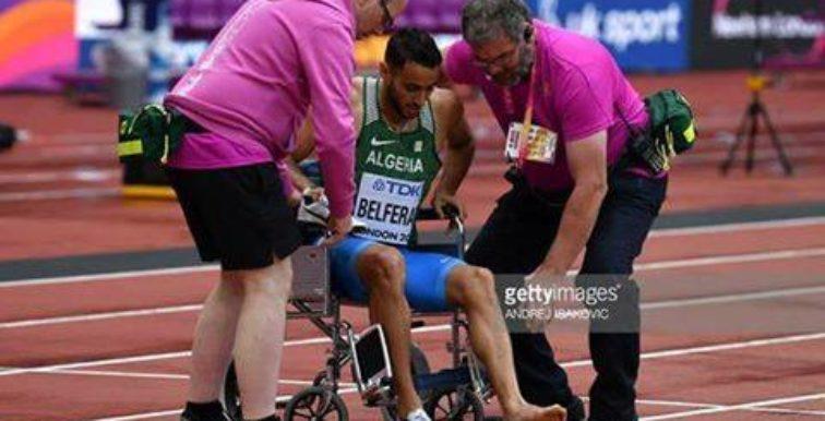 Mondiaux d'athlétisme : Belferar, blessé, abandonne la course (800m)