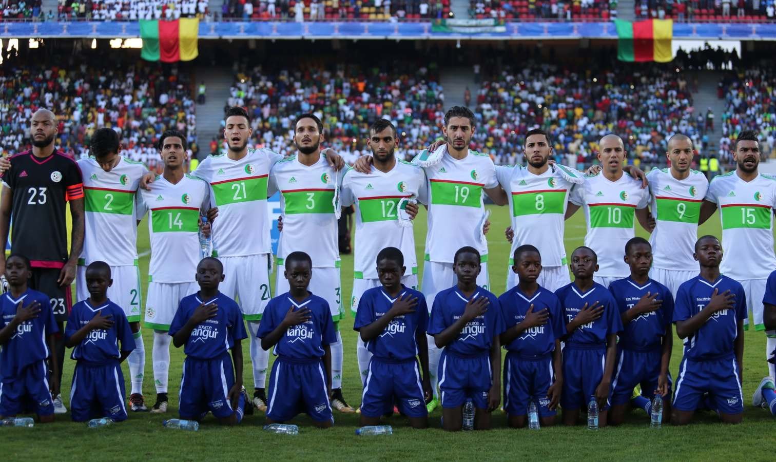 entree hymne algerie cameroun defaite