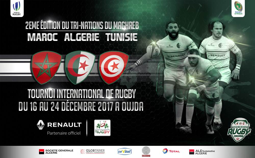 affiche tri nations maghreb rugby