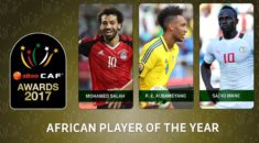 CAF Awards 2017 : Mohamed Salah, Aubameyang et Sadio Mané, les trois finalistes