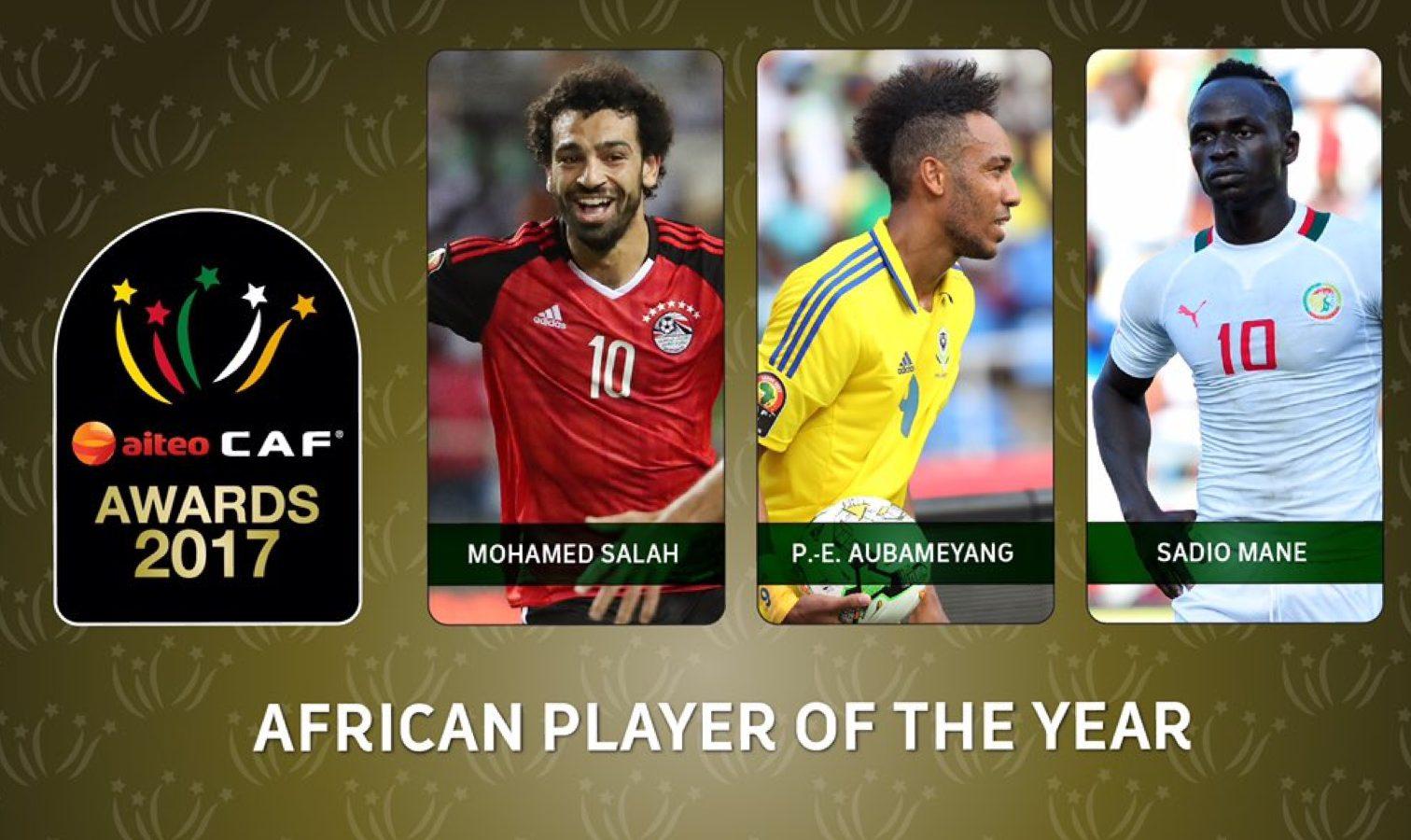 Joueur Africain de l'année: Salah, Aubameyang et Mané sur la bonne voie