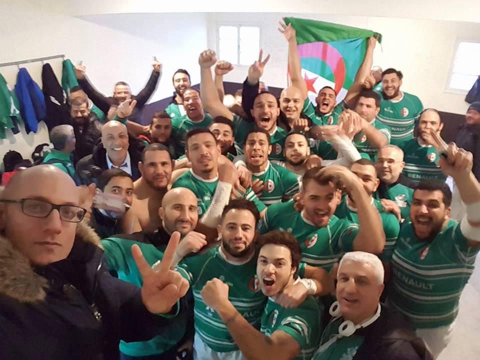 selfie victoire tunisie rugby